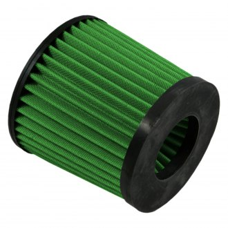Green Filter® - Round Tapered Green Air Filter with Rubber Ring End Cap and Straight Inlet