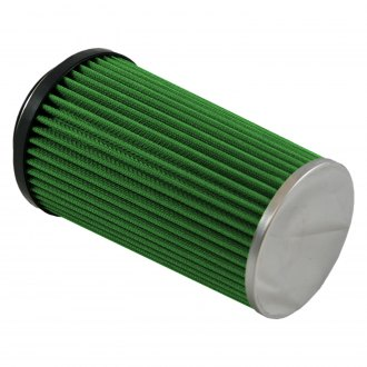 Green Filter® - Round Straight Green Air Filter with SS End Cap and Straight Inlet