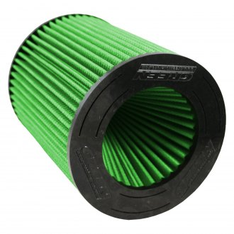 Green Filter® - Round Straight Green Air Filter with Rubber Ring End Cap and Straight Inlet