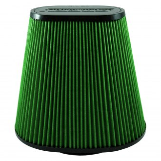 Green Filter® - Oval Tapered Green Air Filter with Rubber End Cap and Straight Inlet