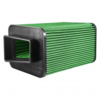 "Green Filter® - Rectangular Straight Green Air Filter with Rubber End Cap and Straight Inlet (4"" F x 10"" H)"