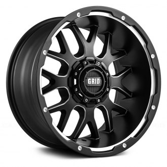 GRID OFF-ROAD® - GD2 Matte Black with Milled Accents