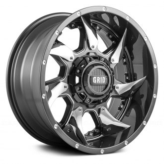 GRID OFF-ROAD® - GD1 Gloss Graphite with Milled Accents and Chrome Inserts
