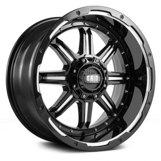 GRID OFF-ROAD® - GD10 Gloss Black with Milled Accents