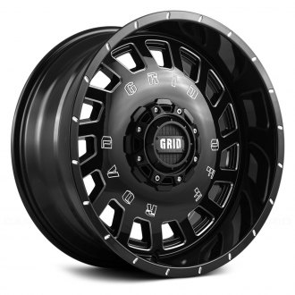 GRID OFF-ROAD® - GD3 Gloss Black with Milled Accents