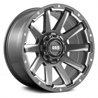 GRID OFF-ROAD® - GD5 Gloss Graphite with Milled Accents