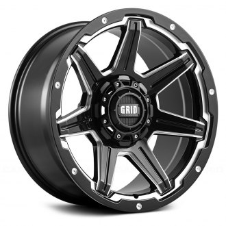 GRID OFF-ROAD® - GD6 Gloss Black with Milled Accents