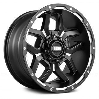 GRID OFF-ROAD® - GD7 Matte Black with Milled Accents