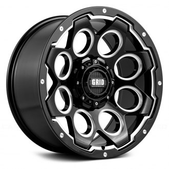 GRID OFF-ROAD® - GD8 Gloss Black with Milled Accents