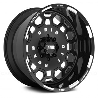 GRID OFF-ROAD® - GF-M0 Monoblock Gloss Black with Milled Accents