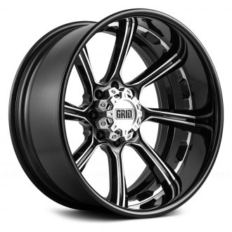 GRID OFF-ROAD® - GF8 Gloss Black with Milled Accents