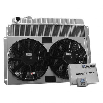 "Griffin Thermal® - 26.25"" x 19.25"" x 2.68"" Performance Direct Fit Combo Unit Radiator with Transmission Cooler"