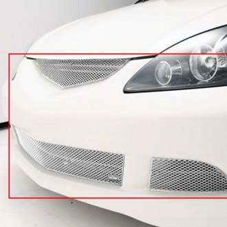 GrillCraft® - 4-Pc MX Series Silver Fine Mesh Main and Bumper Grille