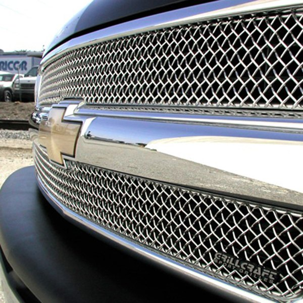 GrillCraft® - 2-Pcs SW Series Polished Heavy Mesh Main Grille Insert