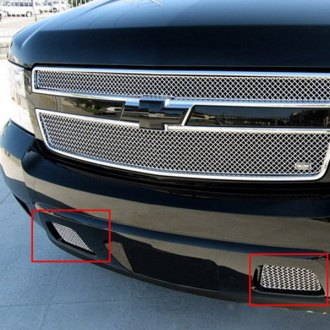 GrillCraft® - 2-Pc SW Series Polished Heavy Mesh Bumper Grille