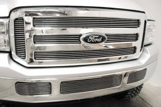 GrillCraft® - BG Series Polished Billet Grille Bolted Overlay (W/O Cutting)