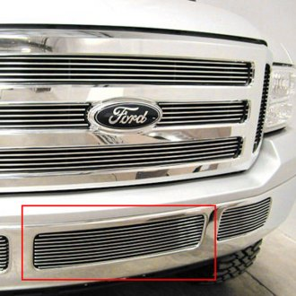 GrillCraft® - BG Series Polished Bumper Billet Grille Bolted Overlay (W/O Cutting)