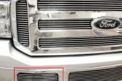 GrillCraft® - 2-Pc BG Series Polished Billet Tow Hook Grille