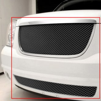 GrillCraft® - 2-Pc MX Series Black Fine Mesh Main and Bumper Grille