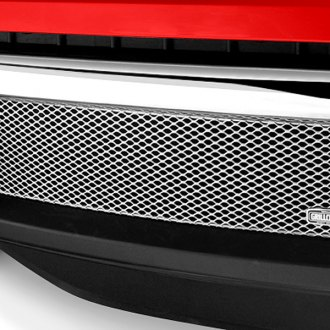 Image may not reflect your exact vehicle! GrillCraft® - 1-Pc MX Series Silver Fine Mesh Bumper Grille