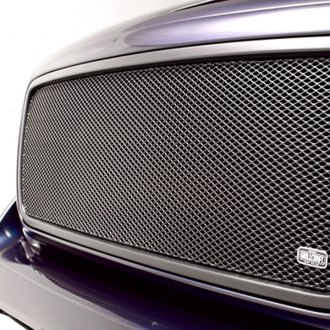Image may not reflect your exact vehicle! GrillCraft® - 2-Pc MX Series Black Fine Mesh Main and Bumper Grille Insert