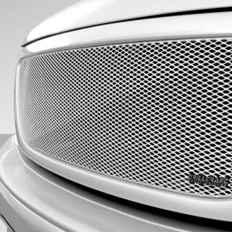 Image may not reflect your exact vehicle! GrillCraft® - MX Series Silver Fine Mesh Grille