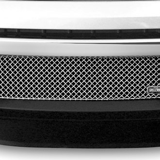 Image may not reflect your exact vehicle! GrillCraft® - 1-Pc SW Series Black Heavy Mesh Bumper Grille
