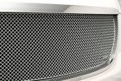 Image may not reflect your exact vehicle! GrillCraft® - 2-Pc SW Series Black Heavy Mesh Main Grille