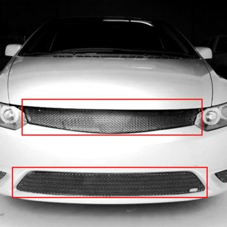 GrillCraft® - 2-Pc MX Series Silver Fine Mesh Main and Bumper Grille