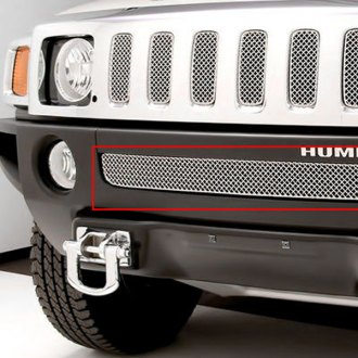 GrillCraft® - 1-Pc SW Series Polished Heavy Mesh Bumper Grille Insert
