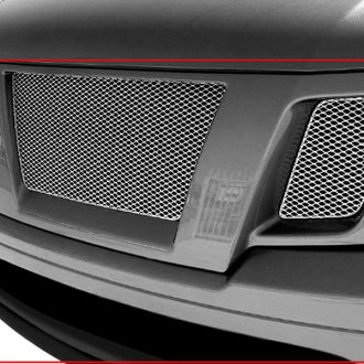 GrillCraft® - 4-Pc MX Series Silver Fine Mesh Main and Bumper Grille Insert