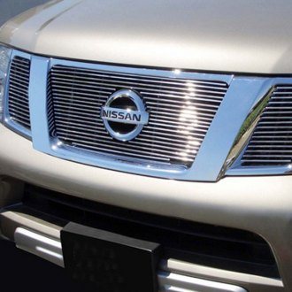 GrillCraft® - BG Series Polished Billet Grille Bolted Overlay (W/O Cutting, with Logo Cutout)