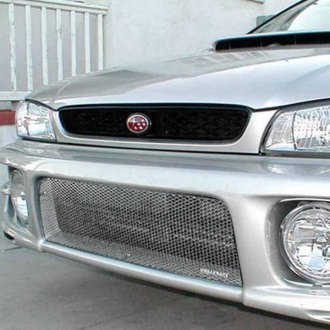 GrillCraft® - 2-Pc MX Series Silver Fine Mesh Main and Bumper Grille Insert