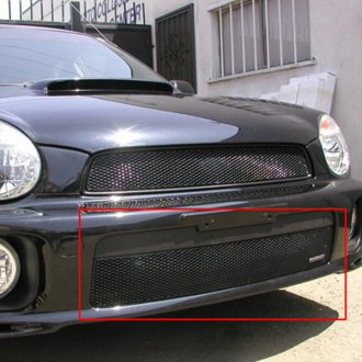GrillCraft® - MX Series Black Fine Mesh Bumper Grille (W/O Cutting)