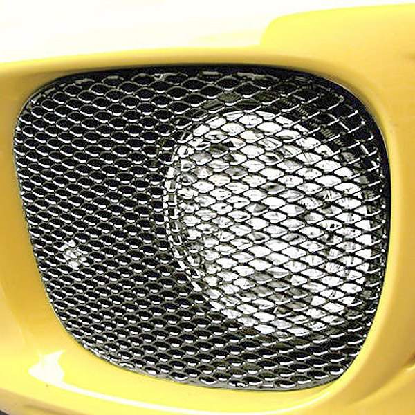 GrillCraft® - 2-Pc MX Series Silver Fine Mesh Fog Lamp Grille