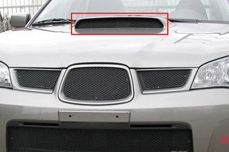 GrillCraft® SUB1721B - 1-Pc MX Series Black Fine Mesh Hood Scoop Grille