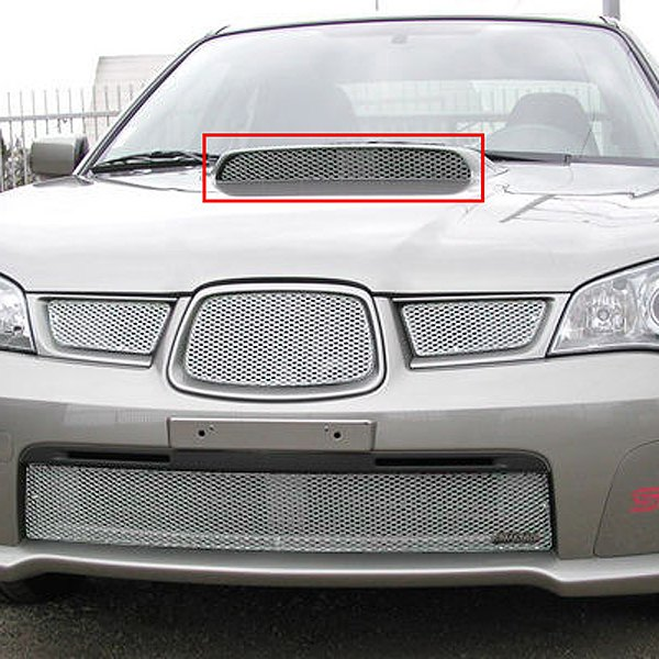 GrillCraft® - MX Series Silver Hood Scoop Fine Mesh Grille