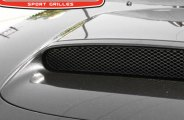 GrillCraft® SUB1722B - 1-Pc MX Series Black Hood Scoop Fine Mesh Grille