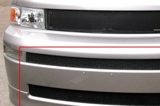 GrillCraft® TOY1851B - 2-Pc MX Series Black Fine Mesh Bumper Grille (W/O Cutting)