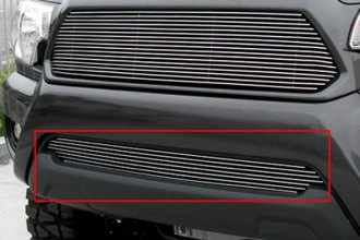 GrillCraft® TOY1952-BAO - 1-Pc BG Series Polished Billet Bumper Grille Insert