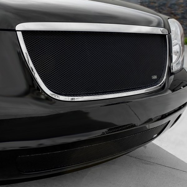 GrillCraft® - 2-Pc MX Series Black Fine Mesh Main and Bumper Grille Kit