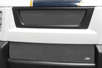 Grillcraft® - 2-Pc MX Series Silver Powder Coated Fine Mesh Main and Bumper Grille Kit