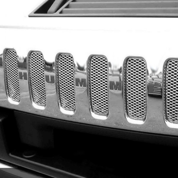 GrillCraft® - 8-Pc MX Series Silver Fine Mesh Main and Bumper Grille Kit