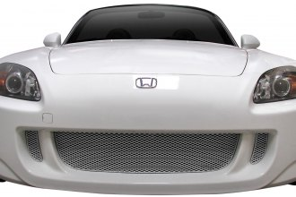 Image may not reflect your exact vehicle!GrillCraft® - 3-Pc MX Series Silver Fine Mesh Main Grille