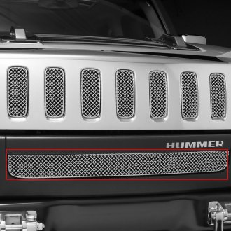 Grillcraft® - 1-Pc SW Series Polished Heavy Mesh Bumper Grille