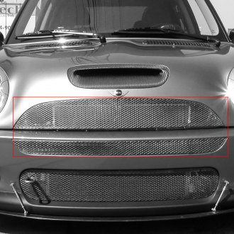 GrillCraft® - 2-Pc MX Series Silver Powder Coated Fine Mesh Main Grille