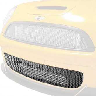 GrillCraft® - 1-Pc MX Series Silver Powder Coated Fine Mesh Front Bumper Grille