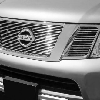 2008 Nissan Frontier Custom Grilles Billet Mesh Led Chrome Black