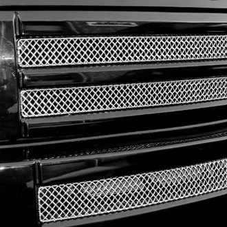 Grillcraft® - 3-Pc SW Series Polished Heavy Mesh Main and Bumper Grille Kit
