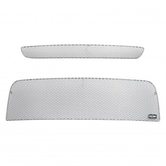 GrillCraft® - 2-Pc MX Series Silver Fine Mesh Main and Bumper Grille Kit